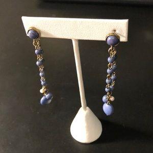 Blue hanging earrings